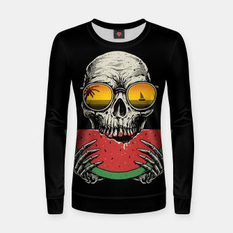 Watermelon Skull Women sweater thumbnail image