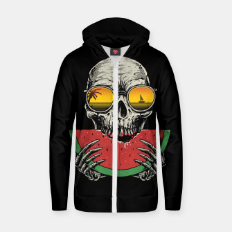 Watermelon Skull Zip up hoodie thumbnail image