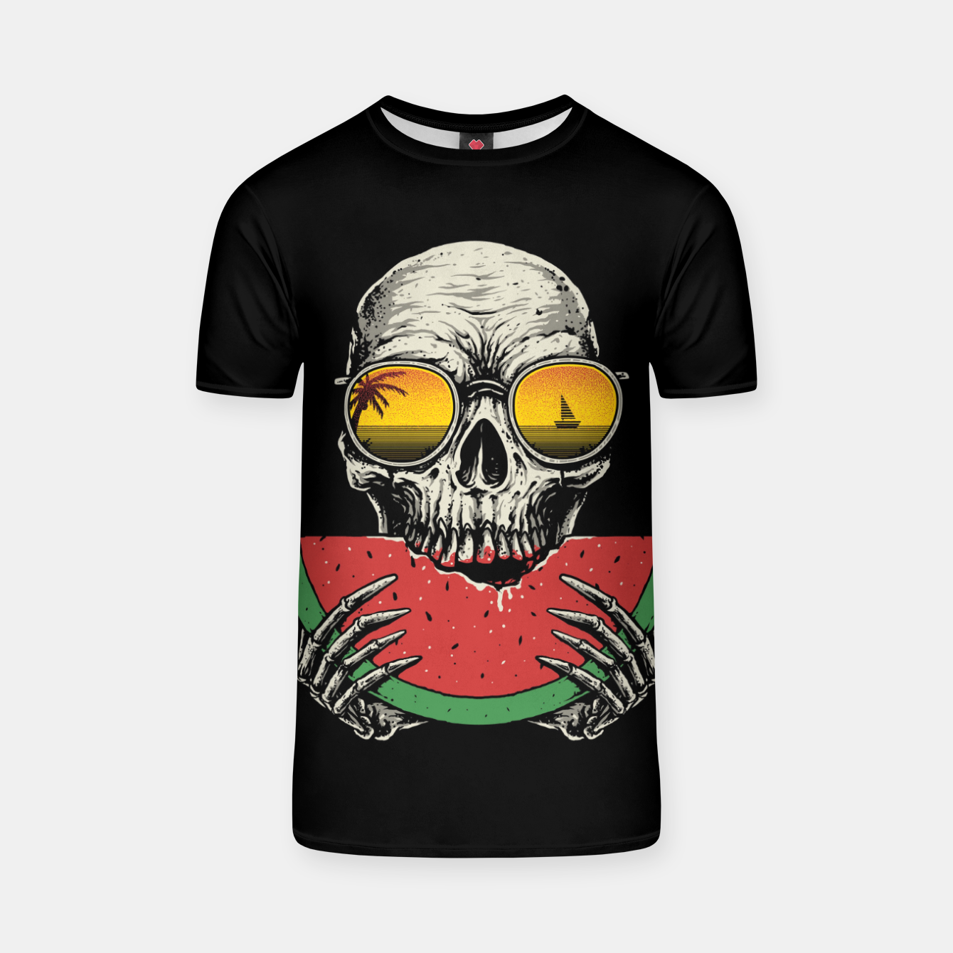 Image of Watermelon Skull T-shirt - Live Heroes
