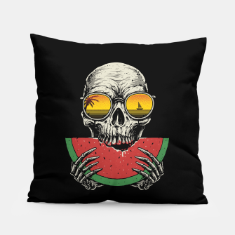 Watermelon Skull Pillow thumbnail image