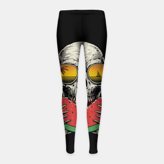 Watermelon Skull Girl's leggings thumbnail image