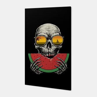 Watermelon Skull Canvas thumbnail image