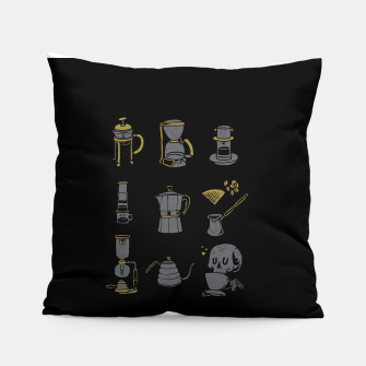 Thumbnail image of Coffee Equipment Pillow, Live Heroes