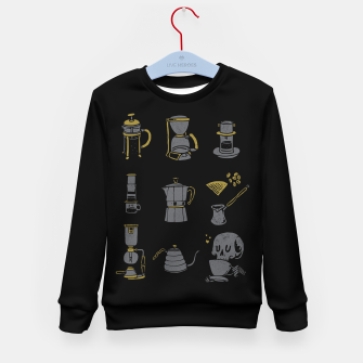 Thumbnail image of Coffee Equipment Kid's sweater, Live Heroes