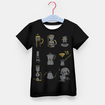 Thumbnail image of Coffee Equipment Kid's t-shirt, Live Heroes