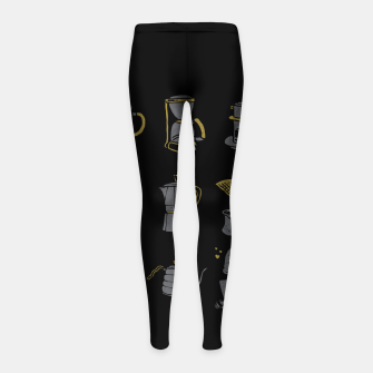 Thumbnail image of Coffee Equipment Girl's leggings, Live Heroes