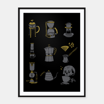Thumbnail image of Coffee Equipment Framed poster, Live Heroes