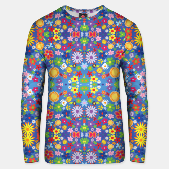 Thumbnail image of Colorful Flowers Unisex sweater, Live Heroes
