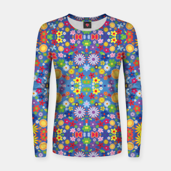 Thumbnail image of Colorful Flowers Women sweater, Live Heroes