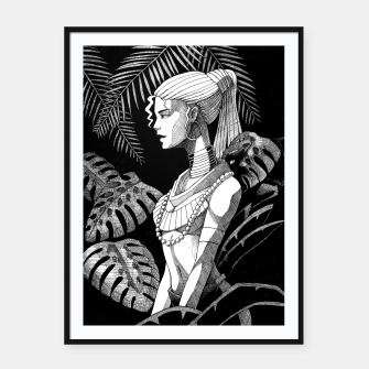 Miniature de image de Jungle Girl Framed poster, Live Heroes