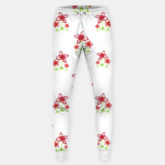 Cute Floral Drawing Pattern Sweatpants obraz miniatury