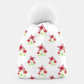 Thumbnail image of Cute Floral Drawing Pattern Beanie, Live Heroes