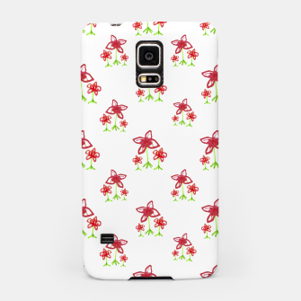 Cute Floral Drawing Pattern Samsung Case obraz miniatury
