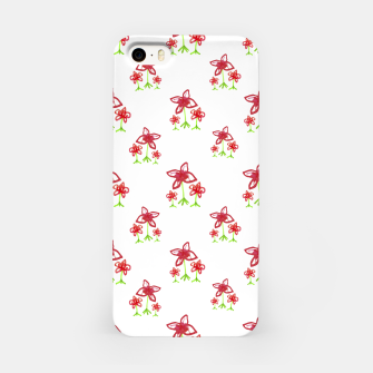Cute Floral Drawing Pattern iPhone Case obraz miniatury