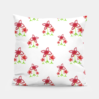 Cute Floral Drawing Pattern Pillow obraz miniatury