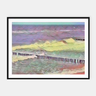 Thumbnail image of baltic see pastel color Plakaty w ramie , Live Heroes
