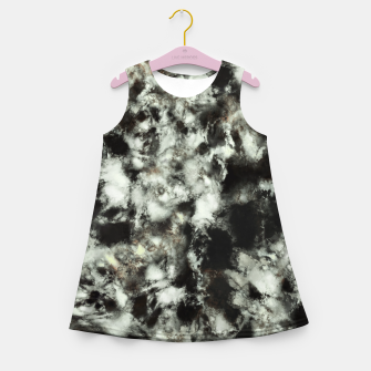 Thumbnail image of Grey footprints Girl's summer dress, Live Heroes