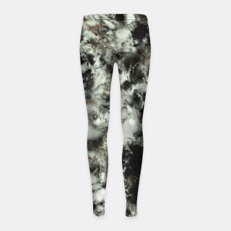 Thumbnail image of Grey footprints Girl's leggings, Live Heroes