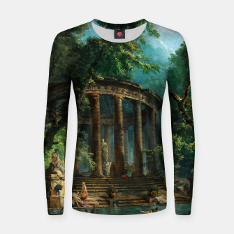 Thumbnail image of The Bathing Pool by Hubert Robert Women sweater, Live Heroes