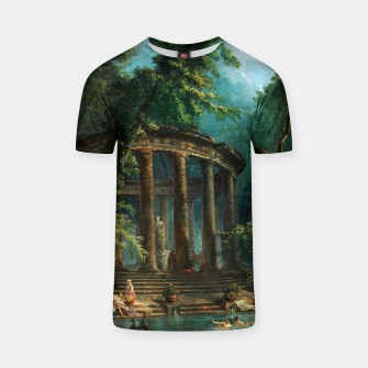 Thumbnail image of The Bathing Pool by Hubert Robert T-shirt, Live Heroes