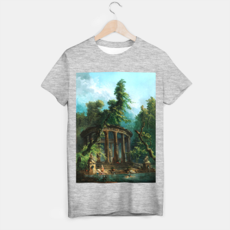 Thumbnail image of The Bathing Pool by Hubert Robert T-shirt regular, Live Heroes