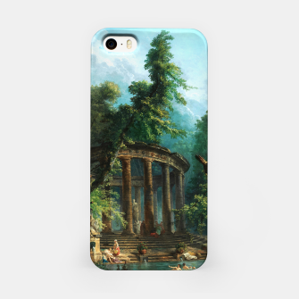 Thumbnail image of The Bathing Pool by Hubert Robert iPhone Case, Live Heroes
