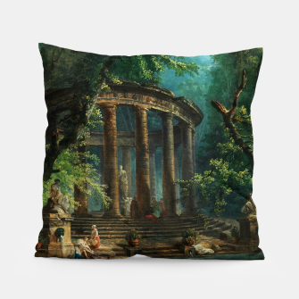 Thumbnail image of The Bathing Pool by Hubert Robert Pillow, Live Heroes