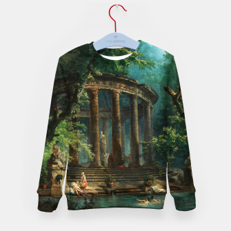 Thumbnail image of The Bathing Pool by Hubert Robert Kid's sweater, Live Heroes