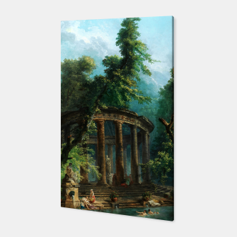 Thumbnail image of The Bathing Pool by Hubert Robert Canvas, Live Heroes