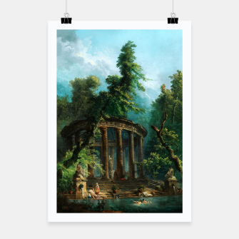 Thumbnail image of The Bathing Pool by Hubert Robert Poster, Live Heroes
