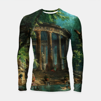 Thumbnail image of The Bathing Pool by Hubert Robert Longsleeve rashguard , Live Heroes