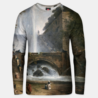 Stair and Fountain in the Park of a Roman Villa Unisex sweater thumbnail image