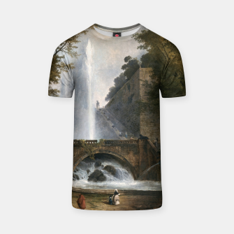 Stair and Fountain in the Park of a Roman Villa T-shirt thumbnail image
