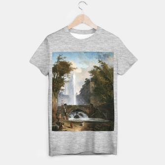 Stair and Fountain in the Park of a Roman Villa T-shirt regular thumbnail image