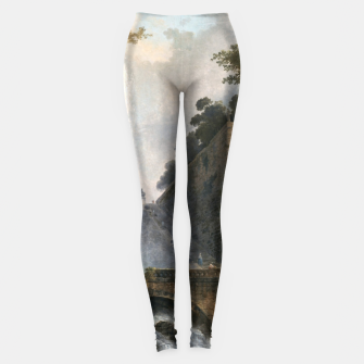 Stair and Fountain in the Park of a Roman Villa Leggings thumbnail image