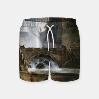 Stair and Fountain in the Park of a Roman Villa Swim Shorts thumbnail image