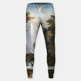 Stair and Fountain in the Park of a Roman Villa Sweatpants thumbnail image