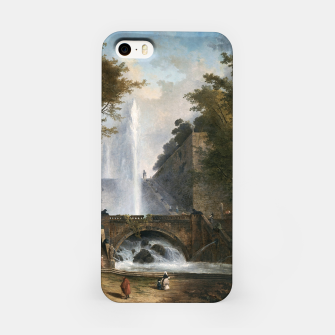 Stair and Fountain in the Park of a Roman Villa iPhone Case thumbnail image