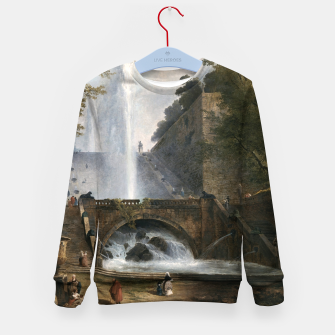 Stair and Fountain in the Park of a Roman Villa Kid's sweater thumbnail image