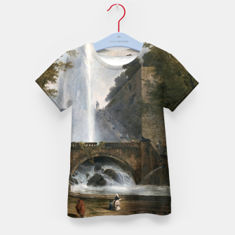 Thumbnail image of Stair and Fountain in the Park of a Roman Villa Kid's t-shirt, Live Heroes