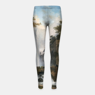Thumbnail image of Stair and Fountain in the Park of a Roman Villa Girl's leggings, Live Heroes