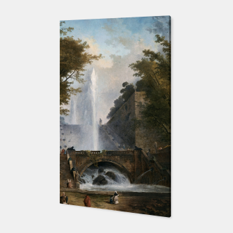 Stair and Fountain in the Park of a Roman Villa Canvas thumbnail image