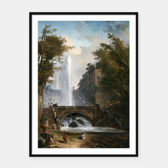 Stair and Fountain in the Park of a Roman Villa Framed poster thumbnail image
