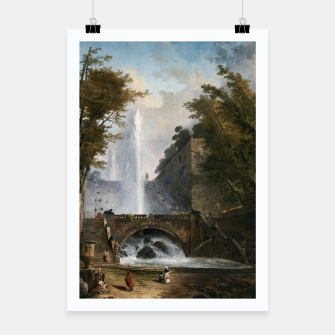 Stair and Fountain in the Park of a Roman Villa Poster thumbnail image