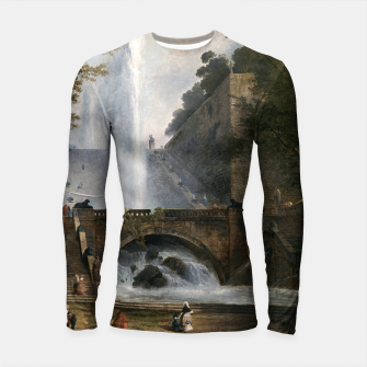 Stair and Fountain in the Park of a Roman Villa Longsleeve rashguard  thumbnail image