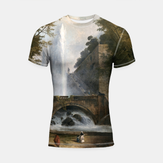Thumbnail image of Stair and Fountain in the Park of a Roman Villa Shortsleeve rashguard, Live Heroes