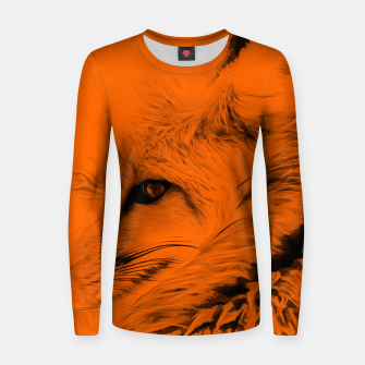 Thumbnail image of red fox digital acryl painting acrob Women sweater, Live Heroes