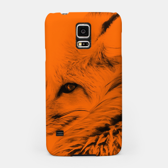 Thumbnail image of red fox digital acryl painting acrob Samsung Case, Live Heroes