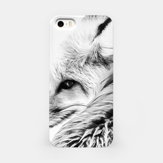 Thumbnail image of red fox digital acryl painting acrbw iPhone Case, Live Heroes