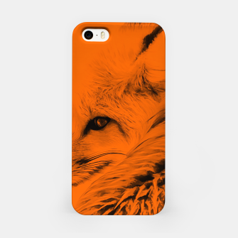 Thumbnail image of red fox digital acryl painting acrob iPhone Case, Live Heroes